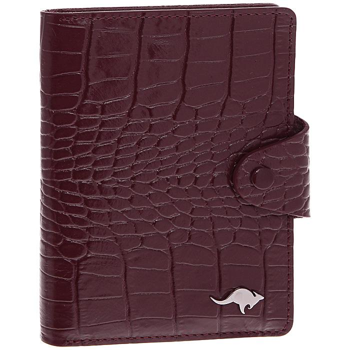 Футляр для визиток Cangurione, 10 листов, цвет: бордовый. 3309-012 KR/Burgundy