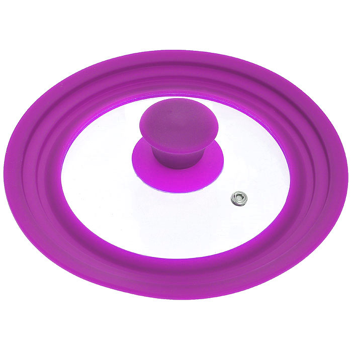 Крышка универсальная Borner, цвет: сиреневый. Диаметр 16 см, 18 см, 20 см, цвет: сиреневый5000132Универсальная крышка Borner, выполненная из силикона и стекла, позволит вам сэкономить не только время, но и пространство на кухне: одну крышку можно использовать на посуду разных размеров от 16 см до 20 см в диаметре.Крышка Borner сделана из термостойкого стекла, что позволяет контролировать процесс приготовления без потери тепла. Ободок из силикона выдерживает температуру до 200°С и при этом не выделяет никаких вредных веществ, легко моется и не впитывает запахи, предотвращает появление сколов на стекле. Характеристики:Материал: стекло, силикон. Цвет: сиреневый. Диаметр крышки:16 см, 18 см, 20 см. Артикул: 5000132.