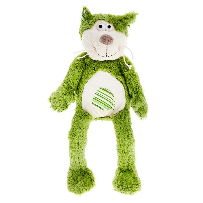 Мягкая игрушка Jackie Chinoco Зеленый кот, 20 см jackie chinoco мягкая игрушка собака 25 см
