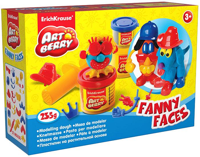 Набор для лепки (на растительной основе) Funny Faces, 3 цвета30384Пластилин на растительной основе Funny Faces - увлекательная игрушка, развивающая у ребенка мелкую моторику рук, воображение и творческое мышление. Пластилин легко разминается, не липнет к рукам и рабочей поверхности, не пачкает одежду. Цвета смешиваются между собой, образуя новые оттенки. Пластилин застывает на открытом воздухе через 24 часа. Набор содержит пластилин 3 цветов (желтого, красного, синего), 2 забавные сборные фигурки, пресс и стек. Пластилин каждого цвета хранится в отдельной пластиковой баночке. С пластилином на растительной основе Funny Faces ваш ребенок будет часами занят игрой. Характеристики:Вес пластилина желтого цвета: 100 г. Вес пластилина красного цвета: 100 г. Вес пластилина синего цвета: 35 г. Длина стека: 11,5 см. Длина пресса: 8 см. Размер упаковки: 16 см x 11,5 см x 4 см. Изготовитель: Россия.
