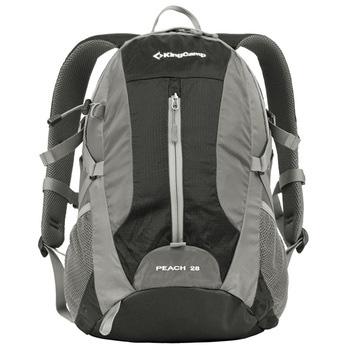 Рюкзак городской KingCamp Peach 28L, цвет: черный, серый рюкзак городской kingcamp royals 30l цвет черный