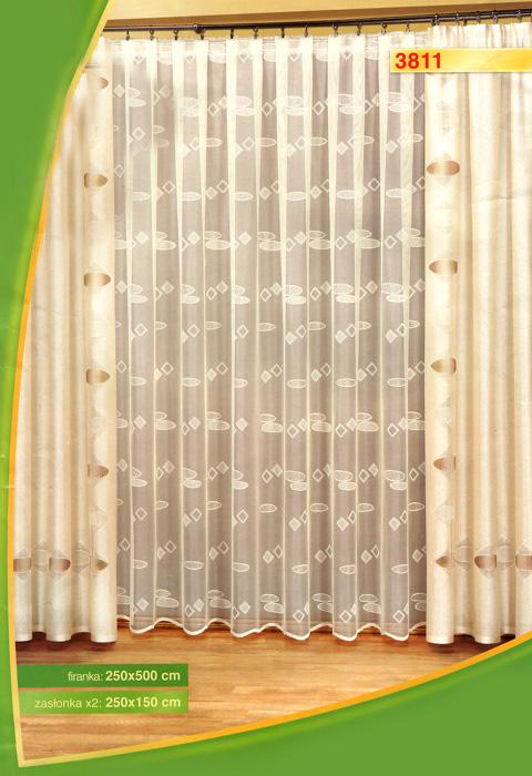 Комплект штор Haft, на ленте, цвет: белый, кремовый, высота 250 см393474Комплект штор Haft, изготовленный из полиэстера, станет великолепным украшением любого окна. В комплект входят две шторы кремового цвета и тюль белого цвета. Тонкое плетение, оригинальный дизайн и приятная цветовая гамма привлекут к себе внимание и органично впишутся в интерьер. Все элементы комплекта на шторной ленте для собирания в сборки. Характеристики:Материал: 100% полиэстер. Цвет: белый, кремовый. Размер упаковки:34 см х 42 см х 9 см. Артикул: 393474.В комплект входит: Штора - 2 шт. Размер (Ш х В): 150 см х 250 см. Тюль - 1 шт. Размер (Ш х В): 500 см х 250 см. Польская фирма Haft является одним из лидеров на рынке производства штор и скатертей. Модельный ряд отличает оригинальный дизайн, высокое качество.
