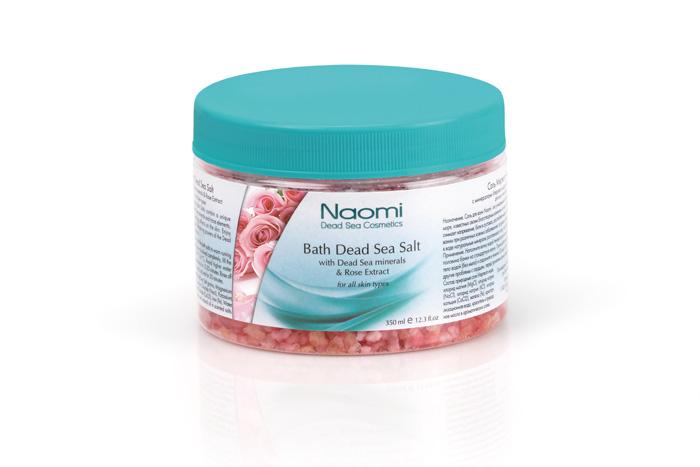 Naomi Соль Мертвого моря, с экстрактом розы, 350 мл naomi