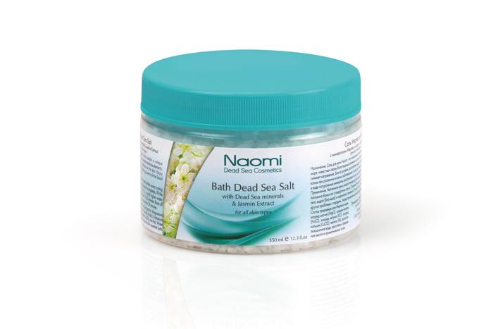 Naomi Соль Мертвого моря, с экстрактом жасмина, 350 млKM 0014Соль для ванн Naomi - это уникальное сочетание минералов и микроэлементов Мертвого моря, известных своим благотворным воздействием на кожу, нервную систему и организм в целом. Ванны с добавлением этой соли снимет напряжение, расслабят мышцы, успокоят нервную систему, смягчат кожу, будут полезны при псориазе, дерматите, экземе, себорее и т.д. Растворенные в воде натуральные минералы разглаживают кожу, восстанавливают ее естественный баланс. Характеристики:Объем: 350 мл. Артикул: KM 0014. Производитель: Израиль. Товар сертифицирован.