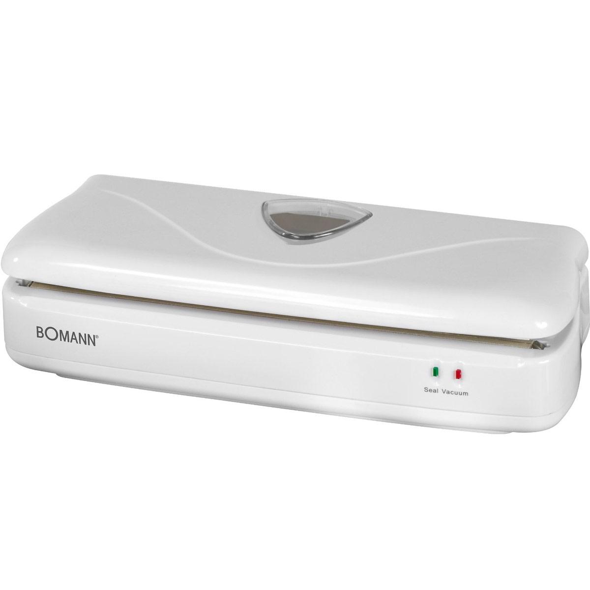 Bomann FS 1014 CB, White вакуумный упаковщикFS 1014 CB weisВакуумный упаковщик Bomann FS 1014 CBидеально подходит для разделения продуктов на порции.2 световых индикатораМощный вакуумный насосНапряжение: 230 ВВ комплекте: пленка (3 м)