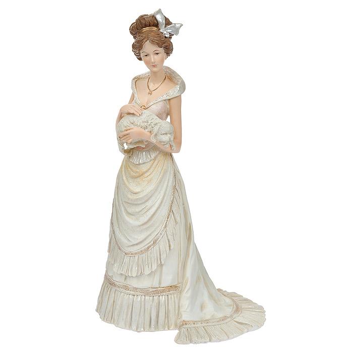 Статуэтка Мадам с собакой, высота 33 см статуэтки pavone статуэтка дама в вечернем платье