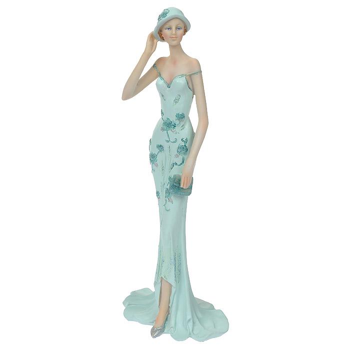Статуэтка Дама в нежно-голубом, высота 33 см статуэтка арти м 37 см дама 50 029
