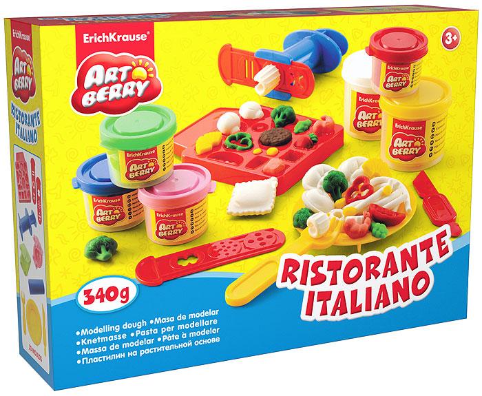 Набор дя лепки (на растительной основе) Ristorante Italiano, 6 цветов30385Пластилин на растительной основе Ristorante Italiano - увлекательная игрушка, развивающая у ребенка мелкую моторику рук, воображение и творческое мышление. Пластилин легко разминается, не липнет к рукам и рабочей поверхности, не пачкает одежду. Цвета смешиваются между собой, образуя новые оттенки. Пластилин застывает на открытом воздухе через 24 часа. Набор содержит пластилин 6 цветов (зеленого, красного, розового, синего, желтого, белого), объемную форму-трафарет, 2 плоских формы-трафарета, 2 3D формочки, пресс для создания пластилинового спагетти, вилочку, тарелочку, валик, стек. Пластилин каждого цвета хранится в отдельной пластиковой баночке. С пластилином на растительной основе Ristorante Italiano ваш ребенок будет часами занят игрой. Характеристики:Общий вес пластилина: 340 г. Размер объемной формы-трафарета: 12,5 см x 10 см x 1,5 см. Средний размер плоских форм-трафаретов: 10,5 см x 3 см. Средний размер 3D формочек: 5,5 см x 4,5 см x 1,5 см. Длина стека: 11,5 см. Длина валика: 9 см. Длина пресса: 7,5 см. Диаметр тарелочки: 10 см. Длина вилочки: 10 см. Размер упаковки: 27,5 см x 21,5 см x 7 см. Изготовитель: Россия.
