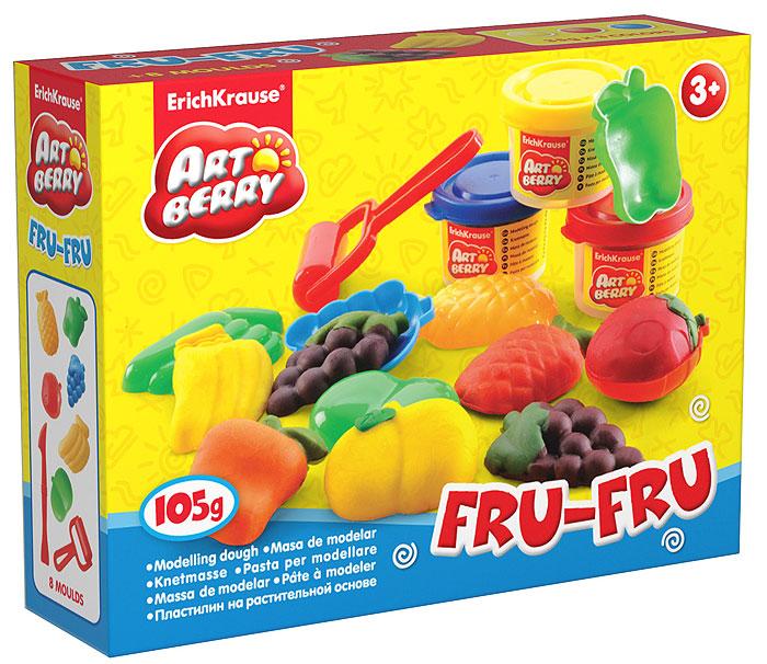 Набор для лепки (на растительной основе) Fru-Fru, 3 цвета30372Пластилин на растительной основе Fru-Fru - увлекательная игрушка, развивающая у ребенка мелкую моторику рук, воображение и творческое мышление. Пластилин легко разминается, не липнет к рукам и рабочей поверхности, не пачкает одежду. Цвета смешиваются между собой, образуя новые оттенки. Пластилин застывает на открытом воздухе через 24 часа. Набор содержит пластилин 3 цветов (желтого, красного, синего), 6 пластиковых формочек в виде различных фруктов, пластиковые ролик и стек. Пластилин каждого цвета хранится в отдельной пластиковой баночке. С пластилином на растительной основе Fru-Fru ваш ребенок будет часами занят игрой. Характеристики:Общий вес пластилина: 105 г. Средний размер формочек: 5,5 см x 3,5 см x 1,5 см. Длина стека: 13,5 см. Длина ролика: 8,5 см. Размер упаковки: 16 см x 11,5 см x 4 см. Изготовитель: Россия.