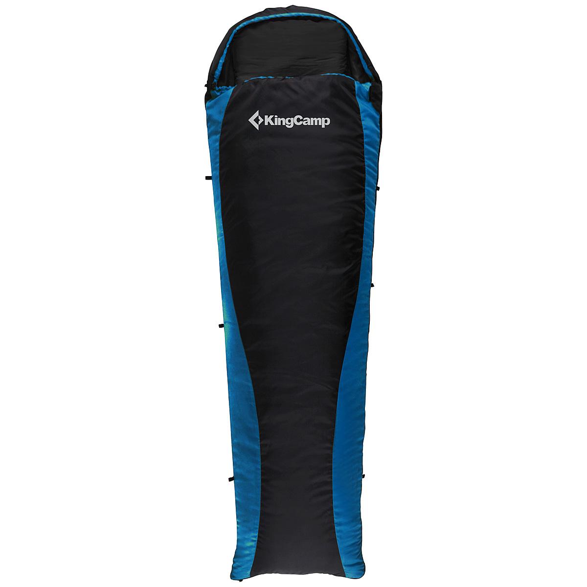 Спальный мешок-кокон KingCamp Trail 800 KS3163, левосторонняя молния, цвет: синий