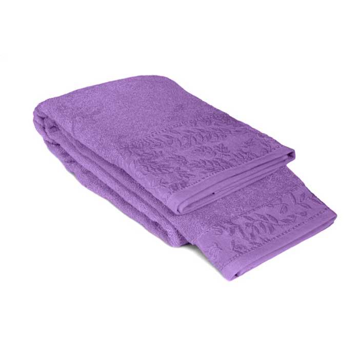 Полотенце махровое Tete-a-Tete, цвет: сиреневый, 50 х 90 см Т-МП-7185-01-05 полотенце махровое bravo венеция цвет розовый белый 50 х 90 см