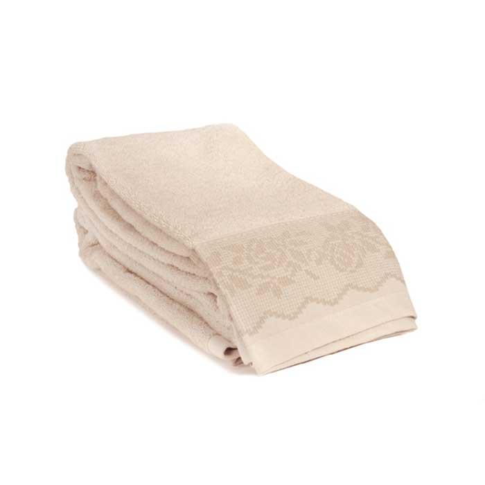 Полотенце махровое Tete-a-Tete, цвет: кремовый, 50 х 90 см Т-МП-6468-01-15 полотенце махровое aquarelle таллин 1 цвет ваниль 50 х 90 см 707762