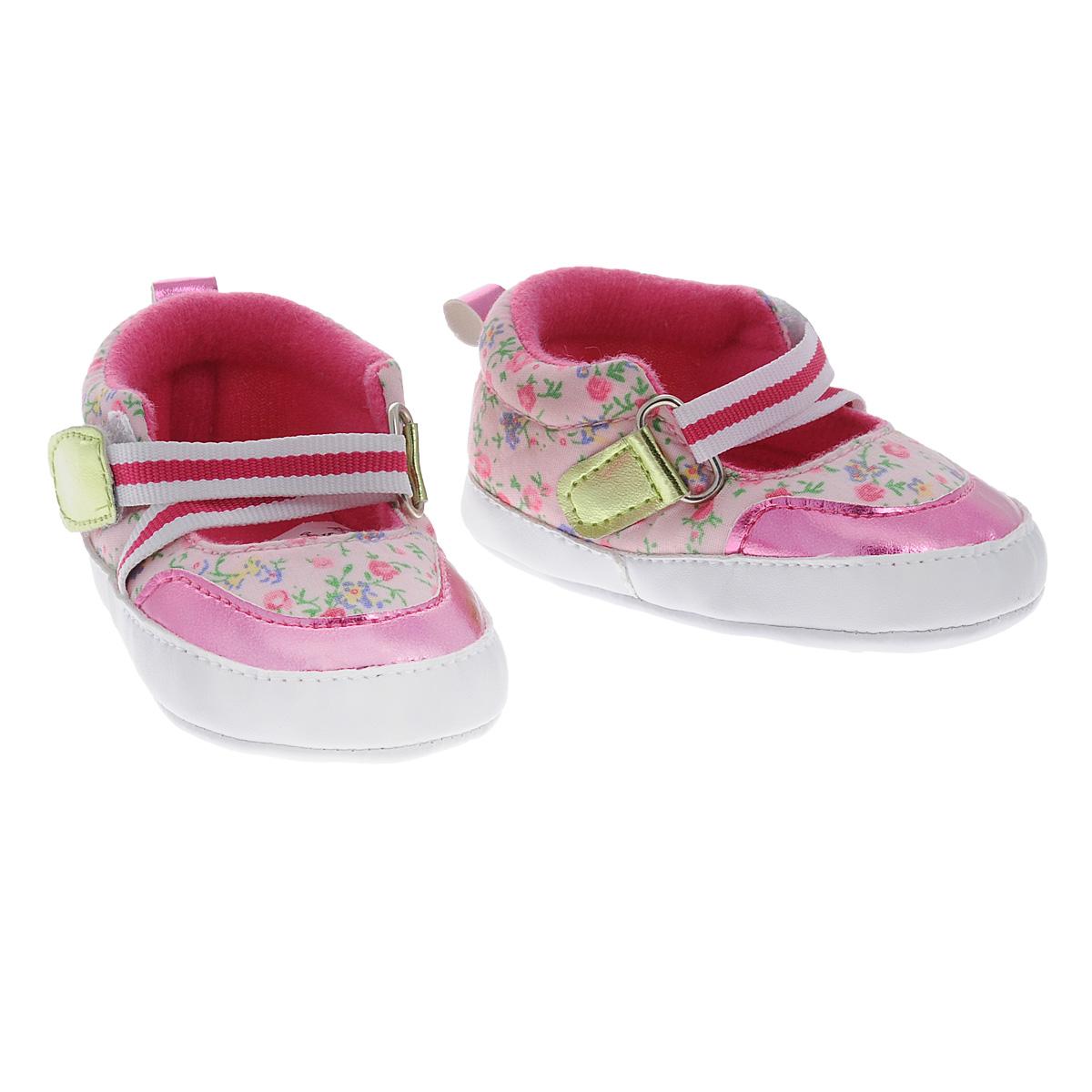 Пинетки для девочки Luvable Friends Фанни, цвет: розовый. 11205. Размер 0/6мес11205Оригинальные детские пинетки для девочки Luvable Friends Фанни, стилизованные под туфельки - это легкая и удобная обувь для малышей. Удобная эластичная застежка на липучке, надежно фиксирующая пинетки на ножке малышки, мягкие, не сдавливающие ножку материалы делают модель практичной и популярной. Стопа оформлена прорезиненным рельефным рисунком, благодаря которому ребенок не будет скользить.Такие пинетки - отличное решение для малышей и их родителей!