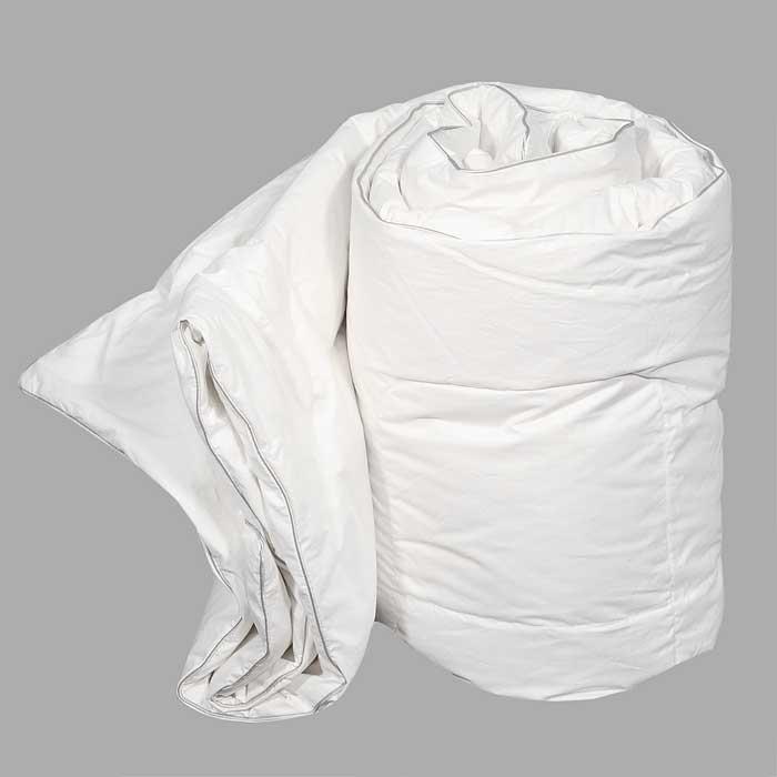 Одеяло Dargez Вилларс легкое, наполнитель: пух, 200 см х 220 см26340ВЛегкое одеяло Dargez Вилларс представляет собой чехол из белоснежного перкаля с наполнителем из белого пуха первой категории. Наполнитель из пуха придает изделию дополнительную упругость и легкость. Особенности одеяла Dargez Вилларс: - натуральное и экологически чистое;- обладает легкостью и уникальными теплозащитными свойствами;- создает оптимальный температурный режим; - обладает высокой гигроскопичностью: хорошо впитывает и испаряет влагу;- имеет высокую воздухопроницаемость: позволяет телу дышать; - обладает мягкостью и объемом.Одеяло вложено в текстильную сумку-чехол зеленого цвета на застежке-молнии, а специальная ручка делает чехол удобным для переноски. Характеристики: Материал чехла: перкаль отбеленный пуходержащий (100% хлопок). Наполнитель: белый пух первой категории. Размер одеяла: 200 см х 220 см. Масса наполнителя: 0,85 кг. Размер упаковки: 60 см х 40 см х 15 см. Артикул: 26340В. Торговый Дом Даргез был образован в 1991 году на базе нескольких компаний, занимавшихся производством и продажей постельных принадлежностей и поставками за рубеж пухоперового сырья. Благодаря опыту, накопленным знаниям, стремлению к инновациям и развитию за 19 лет компания смогла стать крупнейшим производителем домашнего текстиля на территории Российской Федерации. В основу деятельности Торгового Дома Даргез положено стремление предоставить покупателю широкий выбор высококачественных постельных принадлежностей и текстиля для дома, которые способны создавать наилучшие условия для комфортного и, что немаловажно, здорового сна и отдыха.