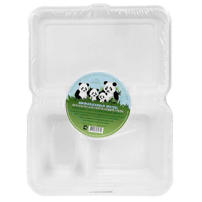 БИО-Ланч-бокс двухсекционный, цвет: белый, 1000 мл, 10 штК1000Биоразлагаемая посуда, полученная из сахарного тростника, является экологически чистой и абсолютно безопасной для окружающей среды. Разлагается под воздействием окружающей среды от 40 дней. Используется для холодных и для горячих блюд. Можно использовать в микроволновой печи. Без канцерогенов и токсинов. Характеристики:Состав: сахарный тростник 100%. Цвет: белый. Размер ланч-бокса: 32 см х 23,3 см х 2 см. Размер в упаковке: 32 см х 23,3 см х 2 см. Комплектация: 10 штук. Изготовитель: Китай.