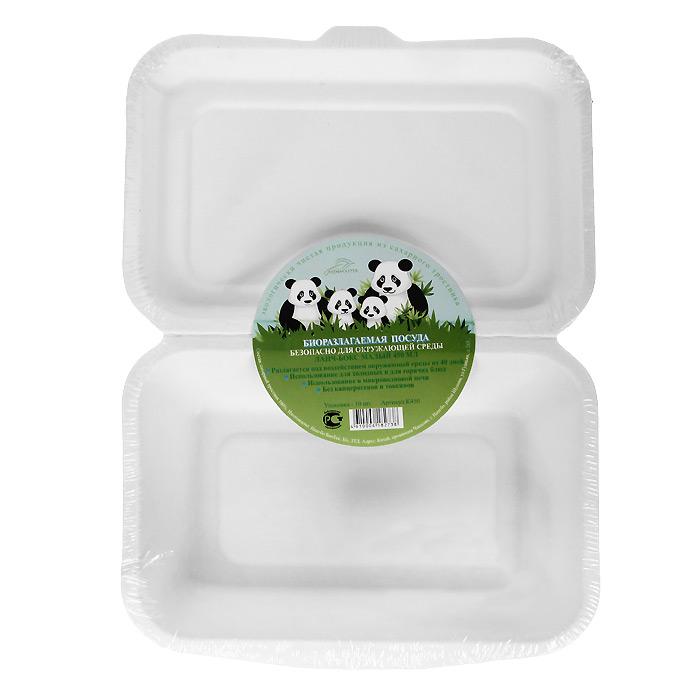 Набор био-ланч-боксов Greenmaster, цвет: белый, 450 мл, 10 штК450Набор Greenmaster состоит из 10 био-ланч-боксов. Биоразлагаемая посуда, полученная из сахарного тростника, является экологически чистой и абсолютно безопасной для окружающей среды. Разлагается под воздействием окружающей среды от 40 дней. Используется для холодных и для горячих блюд. Можно использовать в микроволновой печи. Без канцерогенов и токсинов.Материал: сахарный тростник 100%.Объем ланч-бокса: 450 мл.Размер ланч-бокса: 17,1 см х 25 см х 4 см.Комплектация: 10 штук.