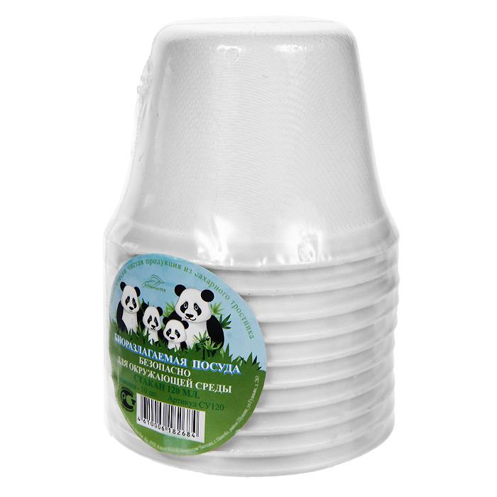 "Набор био-стаканов ""Greenmaster"", цвет: белый, 120 мл, 10 шт"