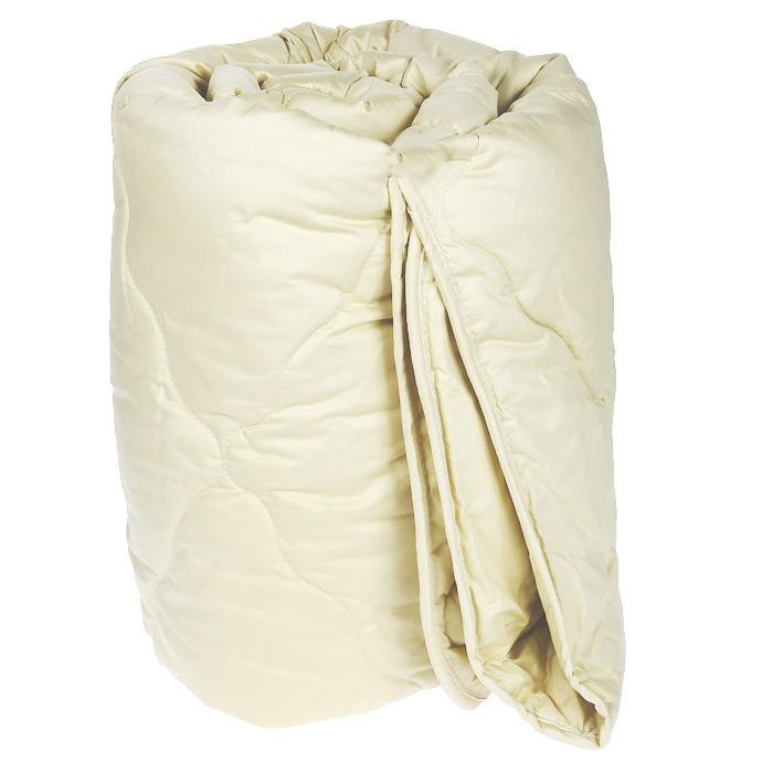 Одеяло Dargez Валетта, наполнитель: верблюжья шерсть, 200 х 220 см261930Одеяло Dargez Валетта представляет собой стеганый чехол из золотисто-бронзового сатина с наполнителем из верблюжьей шерсти. Верблюжья шерсть собирается с верблюдов один раз в пять лет, что во многом определяет ее ценность. Повышенная легкость, мягкость, шелковистость, антистатичность, исключительные термостатические свойства, способствующие созданию комфортного микроклимата во время сна - основные отличительные особенности верблюжьей шерсти.Одеяло вложено в текстильную сумку-чехол зеленого цвета на застежке-молнии, а специальная ручка делает чехол удобным для переноски. Характеристики: Материал чехла: сатин (100% хлопок). Наполнитель: верблюжья шерсть. Размер одеяла: 200 см х 220 см. Масса наполнителя: 300 г/кв.м. Размер упаковки: 60 см х 47 см х 26 см. Артикул: 261930. Торговый Дом Даргез был образован в 1991 году на базе нескольких компаний, занимавшихся производством и продажей постельных принадлежностей и поставками за рубеж пухоперового сырья. Благодаря опыту, накопленным знаниям, стремлению к инновациям и развитию за 19 лет компания смогла стать крупнейшим производителем домашнего текстиля на территории Российской Федерации. В основу деятельности Торгового Дома Даргез положено стремление предоставить покупателю широкий выбор высококачественных постельных принадлежностей и текстиля для дома, которые способны создавать наилучшие условия для комфортного и, что немаловажно, здорового сна и отдыха.
