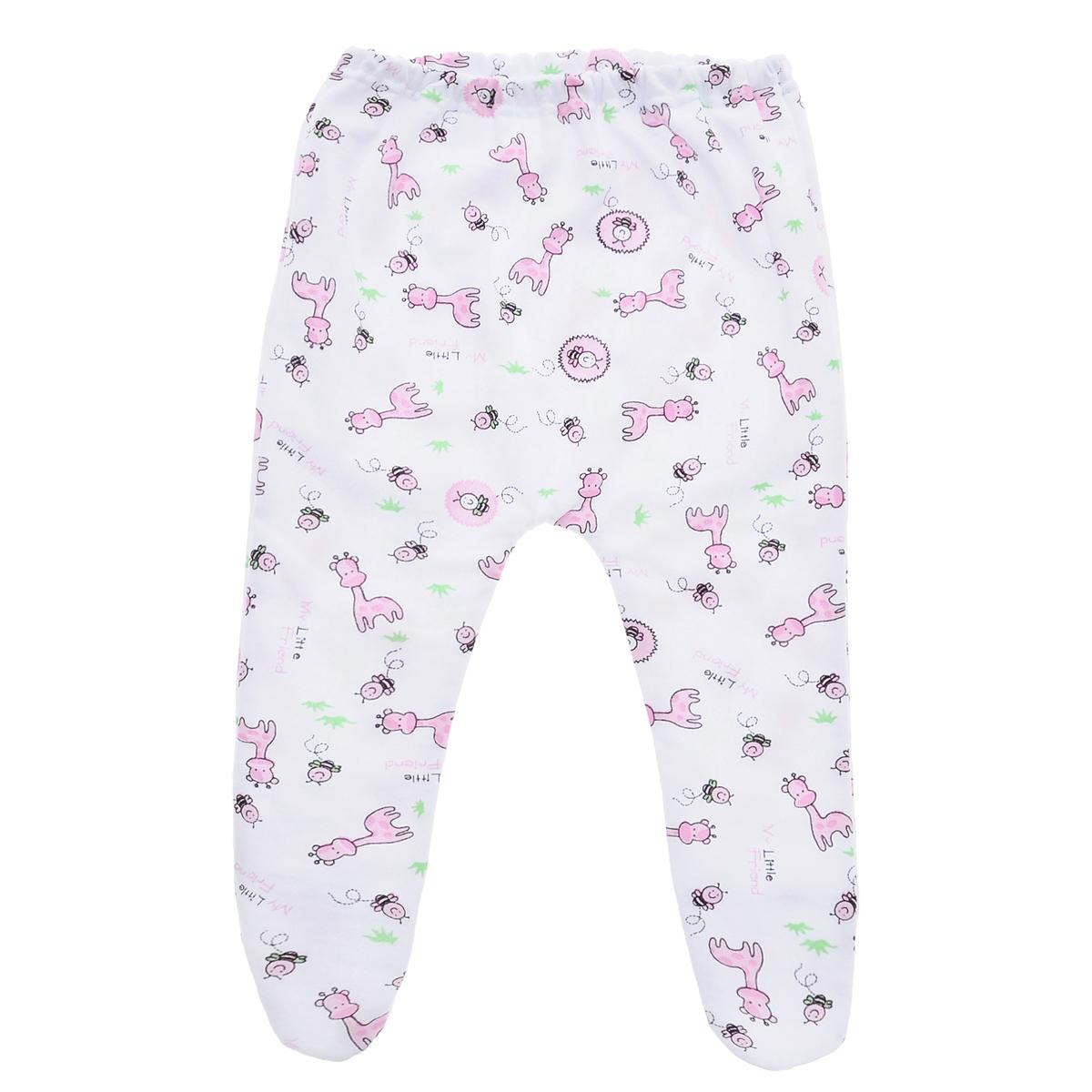 Ползунки Трон-плюс, цвет: белый, розовый, рисунок жирафа. 5223. Размер 80, 12 месяцев5223Удобные ползунки с закрытыми ножками Трон-плюс послужат идеальным дополнением к гардеробу малыша. Ползунки, изготовленные из футерованного полотна - натурального хлопка, необычайно мягкие и легкие, не раздражают нежную кожу ребенка и хорошо вентилируются, а эластичные швы приятны телу ребенка и не препятствуют его движениям. Лицевая сторона гладкая, а изнаночная - с мягким теплым начесом. Отлично сочетаются с футболками, кофточками и боди.Ползунки на резинке - очень удобный и практичный вид одежды для малышей, которые уже немного подросли!
