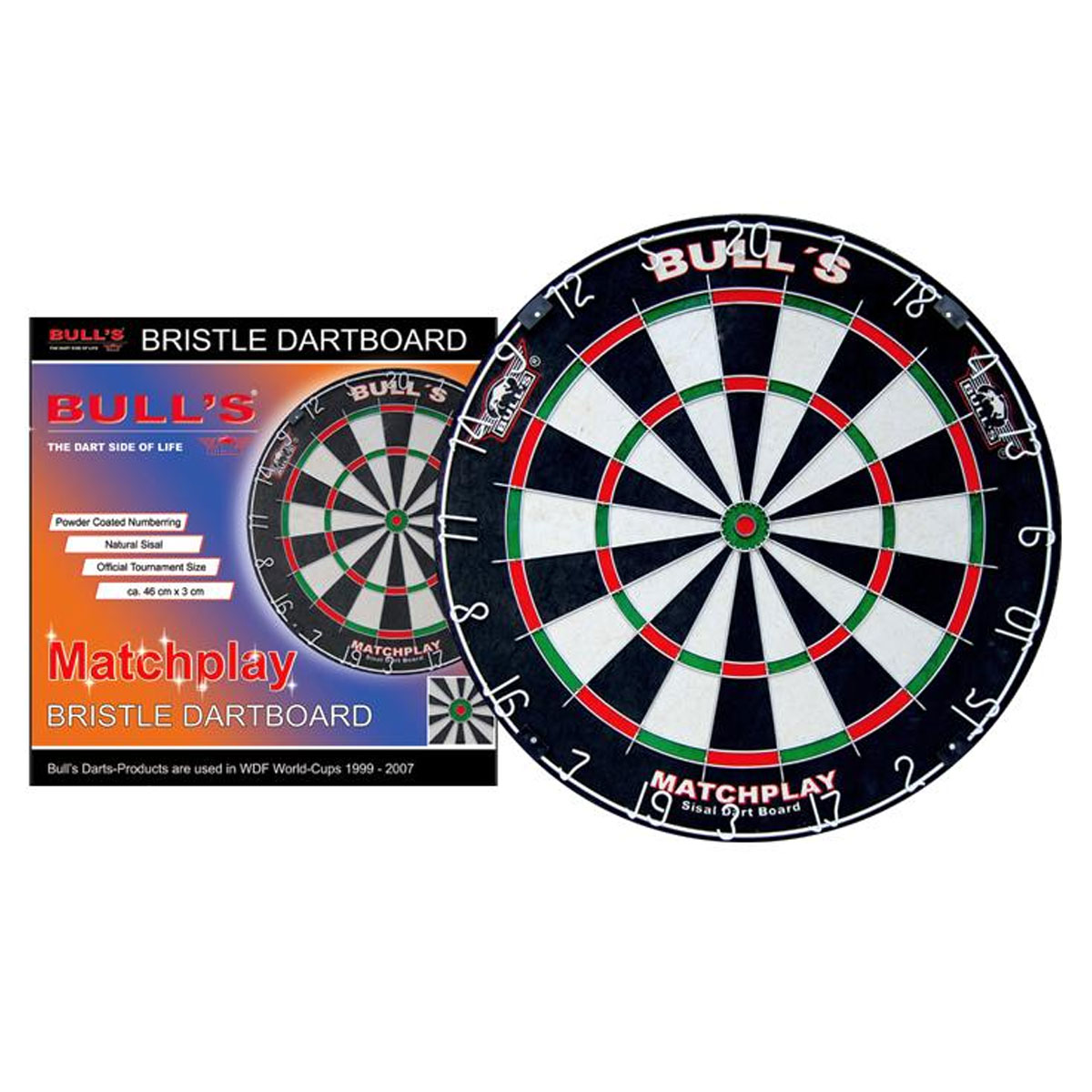 Мишень для дартс Bull's  Matchplay Bristle Board , 46 см х 3 см - Дартс