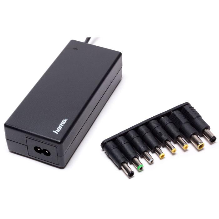 Hama H-12120 универсальный блок питания для ноутбуков блок питания для ноутбука hama h 12120 универсальный 90вт 8 переходников черный