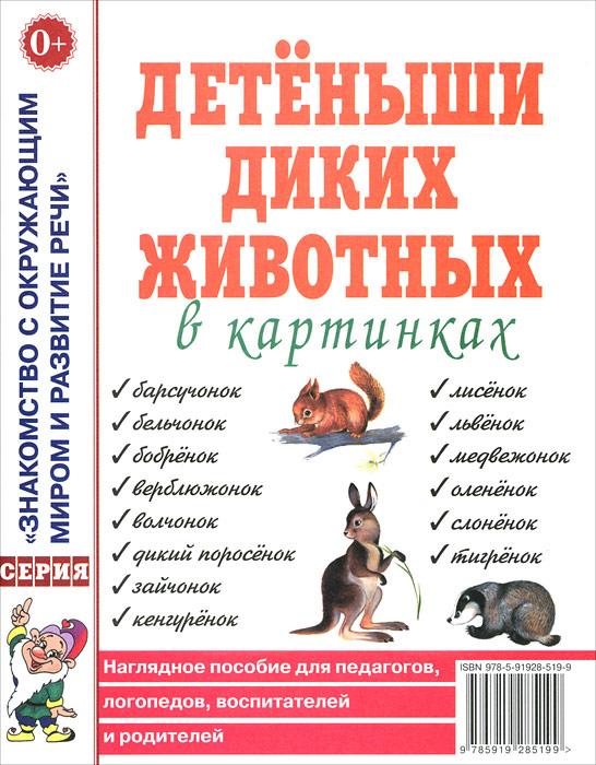 Детеныши диких животных в картинках. Наглядное пособие для педагогов, логопедов, воспитателей и родителей