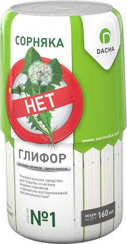 Средство Глифор для борьбы с сорняками и древесно-кустарниковой растительностью, 160 мл