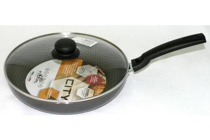 Сковорода тефлоновая Flonal City, с антипригарным покрытием, с крышкой, диаметр 26 см. CD2263 сковорода flonal с крышкой диаметр 22 см