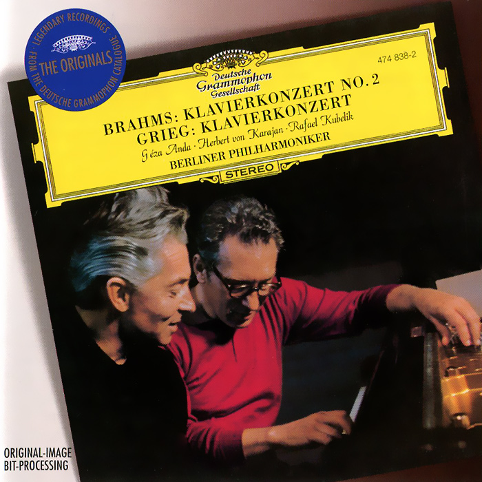 Геза Анда,Рафаэль Кубелик,Berliner Philharmoniker,Герберт Караян Herbert von Karajan, Berliner Philharmoniker. Brahms / Grieg. Piano Concertos ratio 2 1 7mm dia yellow polyolefin heat shrinkable tube 10m