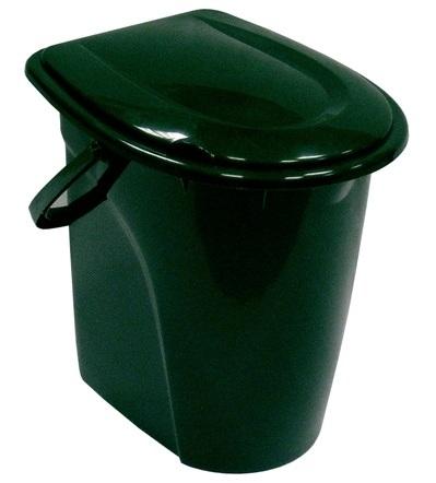 Ведро-туалет, цвет: зеленый, 24 л альтернатива ведро туалет полянка 17л