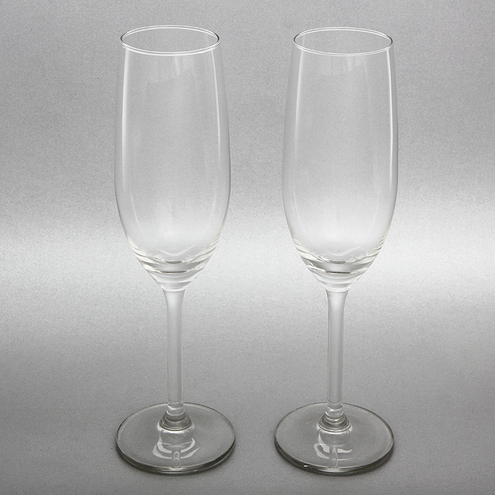Набор бокалов для игристого вина VacuVin, 210 мл, 2 шт синие бокалы
