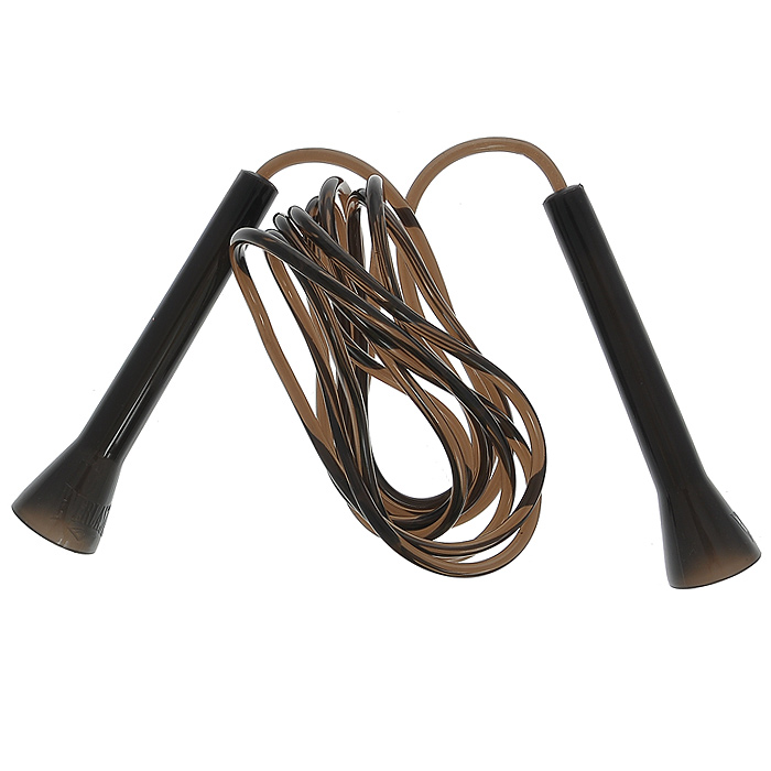 """Скакалка Everlast """"Speed"""" рекомендуется для использования во время тренировок спортсменов. Скакалка позволяет задействовать большое количество рабочих мышц и улучшает работу сердечно-сосудистой системы. Трос скакалки выполнен из резины черного цвета, ручки - из пластика. Фигурные рукоятки плотно ложатся в руку и не выскальзывают во время тренировок. Встроенные в рукоятки подшипники обеспечивают быстрое и плавное вращение. Характеристики: Материал: резина, пластик. Длина скакалки (без учета ручек): 270 см. Размер упаковки: 15 см х 20,5 см х 4,5 см. Изготовитель: Китай. Артикул: 4499G."""