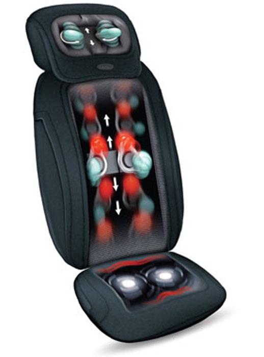 Gezatone Массажная накидка «3D Pad»1301119Массажная накидка 3D Pad - это уникальный массажный прибор, который неуступает по функциональности массажным креслам, но при этом обладаетнепревзойденной компактностью. Глубокий роликовый массаж спиныизбавит вас отусталости и спазма мышц, снимет напряженность и устранит неприятные ощущения.Дополнительная функция ИК-прогрева - это прекрасная релаксация и улучшениеработы мышц, избавление от дискомфорта.Массаж шеи интенсивно, но деликатно прорабатывает натруженные мышцы,восстанавливая их тонус, снимая привычный спазм, предотвращая появлениеостеохондроза. Если вы работаете за компьютером, водите автомобиль, проводитемного времени сидя, то накидка 3D Pad - это незаменимый прибор для вас, чтобыпостоянно оставаться в форме и отлично себя чувствовать.Эффекты от применения массажной накидки 3D Pad:Снятие усталости и стресса,Улучшение самочувствия,Устранения привычного спазма мышц шеи и спины,Улучшение кровоснабжения, снижение ощущения дискомфорта,Предотвращение появления остеохондроза и возникновения застойных явлений,Восстановление работоспособности,Расслабление и комфорт. Зоны применения: - Шея; - Спина и поясница; - Ягодицы и бедра; Особенности накидки 3D Pad: 6 видов массажа на выбор; Антистрессовый массаж шеи; Трехмерный роликовый массаж спины; Расслабляющий вибромассаж; Компактность и портативность; Функция ИК-прогрева; Возможность выбора зоны массажа; Элементарное управление; Компактный размер и надежная фиксация на кресле; Функция массажа шеи с регулировкой высоты. ПРОТИВОПОКАЗАНИЯ: Тяжелые заболевания сердечнососудистой системы: стенокардия, инфарктмиокарда, сердечная недостаточность; Онкологические заболевания; Нарушение свертываемости крови; Хронические заболевания печени и почек; Варикозная болезнь; Беременность.