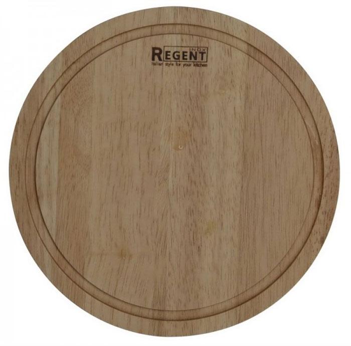Доска разделочная Regent Inox, из гевеи, 24 х 24 х 1,2 см93-BO-1-01Круглая разделочная доска Regent Inox изготовлена из высококачественной древесины - гевеи. Доска имеет углубление для стока жидкости вдоль края. Прекрасно подходит для приготовления и сервировки пищи.Гевея - высококачественная порода каучукового дерева. Доски из гевеи, по сравнению с досками, изготовленными из других материалов, обладают следующими преимуществами:- долговечность- практичность- устойчивость к механическим нагрузкам- водоотталкивающие свойства- не впитывают запахи- не расслаиваются и не рассыхаются- не тупят ножи- оригинальный дизайн. На кухне рекомендуется иметь несколько досок, для различных продуктов: для мяса и птицы, для рыбы, для готовых продуктов, для хлеба, овощей и фруктов. Regent Inox предлагает на выбор несколько размеров и форм разделочных досок, а так же кухонные аксессуары из дерева. Характеристики:Материал: гевея. Размер:24 см х 24 см х 1,2 см. Артикул:93-BO-1-01.