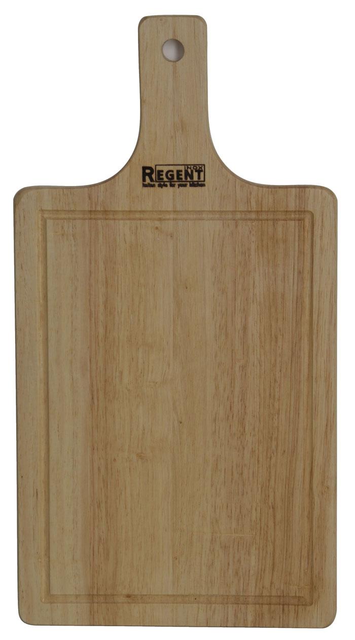 Доска разделочная Regent Inox, из гевеи, 40 х 21 х 1,2 см доска разделочная regent inox bamboo с крышкой 27 х 28 см