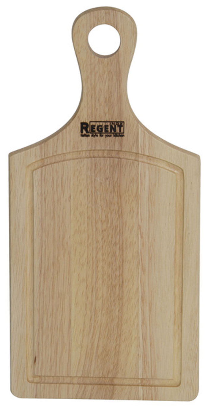 Доска разделочная Regent Inox, из гевеи, 33 см х 16 см х 1,5 см93-BO-2-01.1Прямоугольная разделочная доска Regent Inox изготовлена из высококачественной древесины гевеи. Доска имеет углубление для стока жидкости вдоль края, а также удобную ручку для комфортного использования. Прекрасно подходит для приготовления и сервировки пищи.Гевея - высококачественная порода каучукового дерева. Доски из гевеи, по сравнению с досками, изготовленными из других материалов, обладают следующими преимуществами:- долговечность,- практичность,- устойчивость к механическим нагрузкам,- водоотталкивающие свойства,- не впитывают запахи,- не расслаиваются и не рассыхаются,- не тупят ножи,- оригинальный дизайн. Функциональная и простая в использовании, разделочная доска Regent Inox прекрасно впишется в интерьер любой кухни и прослужит вам долгие годы. Характеристики:Материал: гевея. Размер:33 см х 16 см х 1,5 см. Артикул:93-BO-2-01.1.