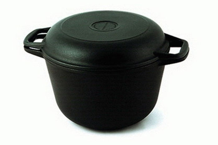 Казан с крышкой-сковородой с антипригарным покрытием