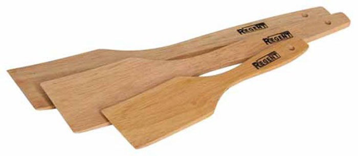 Набор лопаток Bosco, 3 шт93-BO-5-02Набор Bosco состоит из трех лопаток, выполненных из натурального дерева гевеи.Набор лопаток станет незаменимым помощником на кухне, поскольку он состоит из двух одинаковых лопаток и одной лопатки меньшего размера. Набор замечательно подходит для варки, выпечки и жарки во всех видах посуды. На ручках лопаток имеется специальное отверстие для подвешивания на крючок. Характеристики: Материал: дерево (гевея). Размер упаковки: 28,5 см х 5,5 см х 1,5 см. Артикул: 93-BO-5-02.В комплект входит: Лопатка - 2 шт. Размер (Д х Ш х Г): 28 см х 5 см х 0,5. Лопатка - 1 шт. Размер (Д х Ш х Г): 19,5 см х 4 см х 0,5.