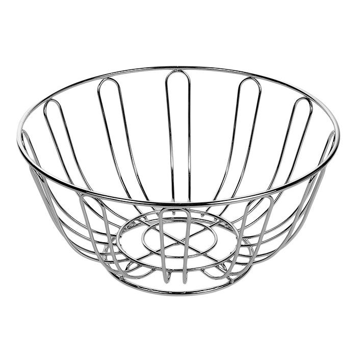 Корзина для фруктов Premier Housewares, диаметр 24 см. 05090050509005Корзина для фруктов Premier Housewares, изготовленная из нержавеющей стали, идеально впишется в интерьер современной кухни. Корзина состоит из металлических прутьев, которые крепятся к круглому основанию. Очень вместительная корзина будет отличным подарком. Характеристики:Материал: нержавеющая сталь. Диаметр корзины: 24 см. Высота стенок: 11 см. Артикул: 0509005.