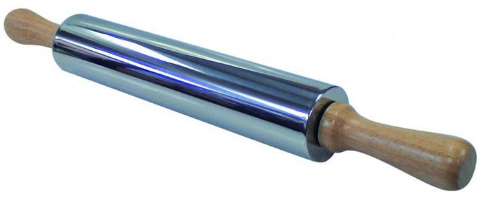 Скалка Regent Inox из нержавеющей стали93-AC-PR-11Скалка Regent Inox, выполненная из нержавеющей стали, предназначена для раскатывания теста. Эргономичные подвижные деревянные ручки и вращающийся валик делают работу быстрой и приятной. Теперь вам не потребуется много усилий, чтобы раскатать тесто. Характеристики:Материал: дерево, нержавеющая сталь. Длина (без ручек): 24,5 см. Диаметр: 5,5 см. Размер упаковки: 42 см х 5,5 см х 5,5 см Производитель: Италия. Артикул: 93-AC-PR-11.