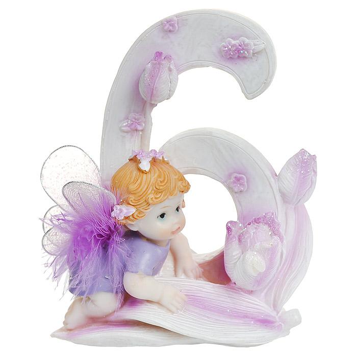 Статуэтка Именинный ангелочек. 6 лет подарок девочке на 6 лет