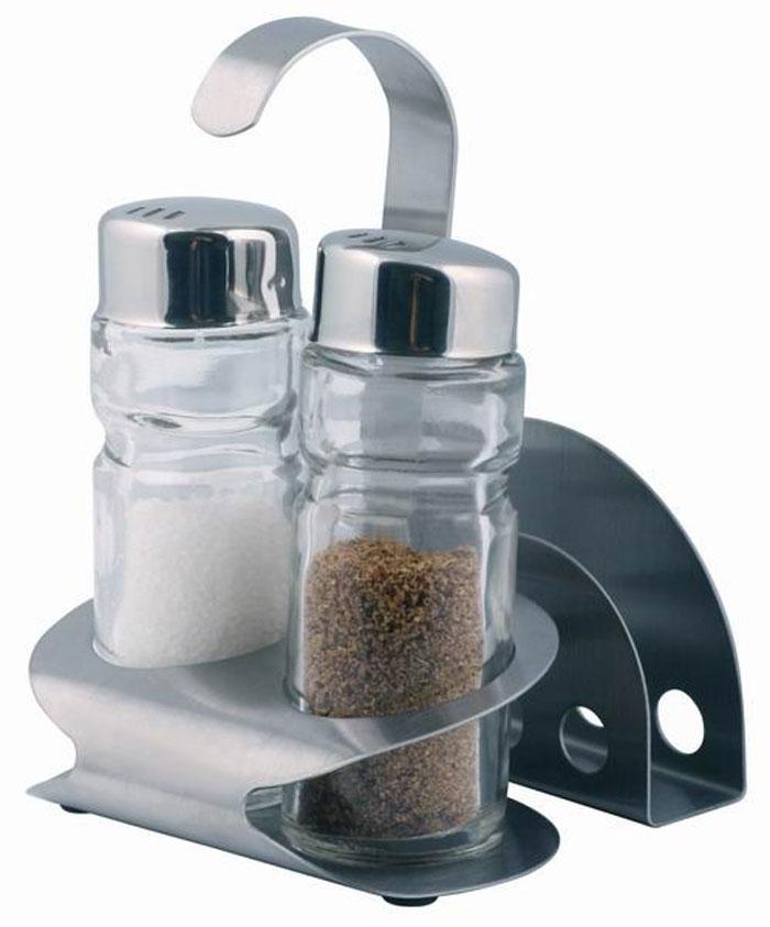 Набор для специй Aroma, 4 предмета. 93-DE-AR-1093-DE-AR-10Набор Aroma состоит из солонки, перечницы, подставки для салфеток и металлической подставки. Предметы набора изготовлены из нержавеющей стали и стекла, прочных, экологически чистых материалов. Солонка и перечница легки в использовании: стоит только перевернуть емкости, и вы с легкостью сможете поперчить или добавить соль по вкусу в любое блюдо. Можно мыть в посудомоечной машине. Оригинальный дизайн, эстетичность и функциональность набора позволят ему стать достойным дополнением к кухонному инвентарю. Характеристики:Материал: нержавеющая сталь, стекло. Размер солонки, перечницы: 9 см х 3 см х 3 см. Размер подставки для салфеток: 8 см х 5 см х 2 см. Размер металлической подставки: 12 см х 8,5 см х 6 см Размер упаковки: 13 см х 9 см х 8 см. Артикул: 93-DE-AR-10.