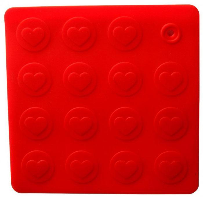 Прихватка-подставка Сердце, цвет: красный93-SI-CU-04.1Прихватка-подставка Сердце выполнена из силикона, оформлена принтом в виде сердечек.Прихватку-подставку Сердце можно использовать с любой посудой. Она защитит руки от ожогов, а мебель и другие кухонные поверхности от царапин, механических повреждений, воздействия высоких температур.Изделия из силикона выдерживают высокие и низкие температуры (от -40°С до +230°С). Они износостойки, легко моются, не горят и не тлеют, не впитывают запахи, не оставляют пятен. Силикон абсолютно безвреден для здоровья.Прихватка-подставка Сердце - отличный подарок, необходимый любой хозяйке. Характеристики:Материал: силикон.Размер прихватки-подставки: 18 см х 18 см.Размер упаковки: 19 см х 26 см х 0,5 см.Артикул: 93-SI-CU-04.1.
