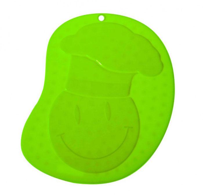 Прихватка - подставка под горячее Повар, силиконовая, цвет: зелёный93-SI-CU-04.3Прихватка-подставка Повар выполнена из силикона, оформлена принтом в виде весёлого изображения повара.Прихватку-подставку Повар можно использовать с любой посудой. Она защитит руки от ожогов, а мебель и другие кухонные поверхности от царапин, механических повреждений, воздействия высоких температур.Изделия из силикона выдерживают высокие и низкие температуры (от -40°С до +230°С). Они износостойки, легко моются, не горят и не тлеют, не впитывают запахи, не оставляют пятен. Силикон абсолютно безвреден для здоровья.Прихватка-подставка Повар - отличный подарок, необходимый любой хозяйке. Характеристики:Материал: силикон.Размер прихватки-подставки: 21,2 см х 16,5 см.Размер упаковки: 32,5 см х 19,5 см х 0,5 см.Артикул: 93-SI-CU-04.3.