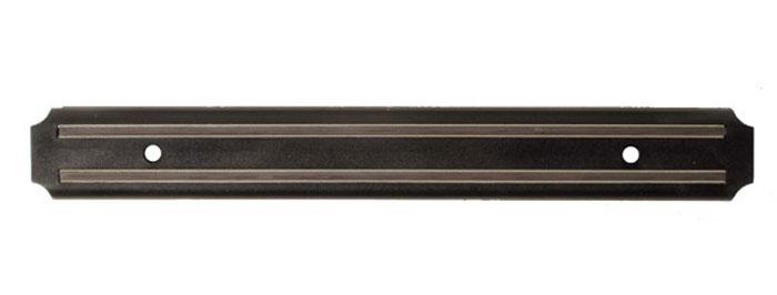 Магнитный держатель Regent Inox, 33 см93-BL-JH1Магнитный держатель Regent Inox - это удобное приспособление, которое обязательно пригодится хозяйке на кухне. Держатель предотвратит контакт ножей друг с другом и остальными столовыми приборами, что позволит ножам дольше оставаться острыми и пригодными для любых нагрузок. Аксессуар легко прикручивается к стене при помощи двух шурупов. Характеристики: Материал: металл. Размер держателя: 33 см х 3 см х 1 см. Размер в упаковке: 36 см x 7 см x 1 см.
