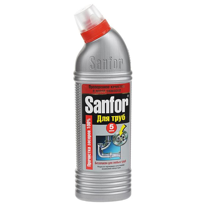 Гель для удаления засоров Sanfor, 500 г1560Средство для очистки канализационных труб Sanfor быстро устранит даже очень сильные засоры в канализационных стоках. Результат достигается уже за 5 минут. Благодаря густой структуре гель проникает глубоко в трубу непосредственно к засору, даже при наличии воды. Эффективно растворяет в стоках волосы, остатки пищи, жир и другие загрязнения. Нейтрализует неприятные запахи. Средство безопасно для всех видов труб, в том числе и пластиковых. Убивает микробы за 60 минут.Содержит хлор - наиболее эффективное дезинфицирующее средство. Характеристики:Вес: 500 г. Артикул:1560. Товар сертифицирован.