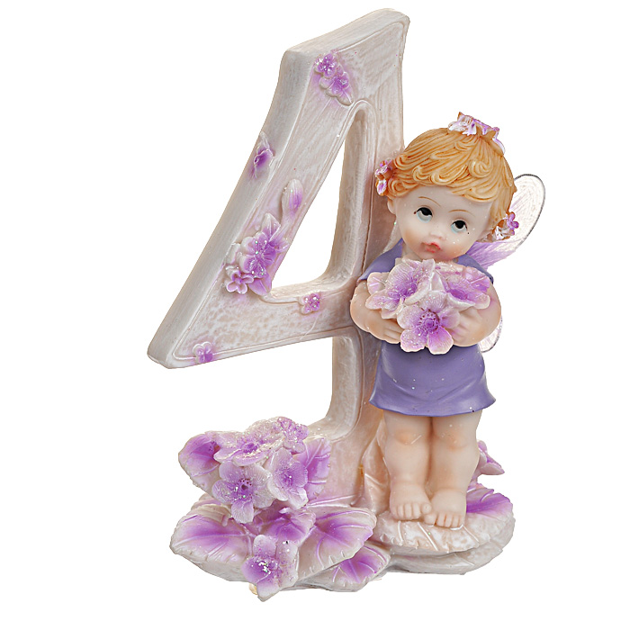 Статуэтка Именинный ангелочек. 4 года статуэтка кролик 30 х 20 х 29 см