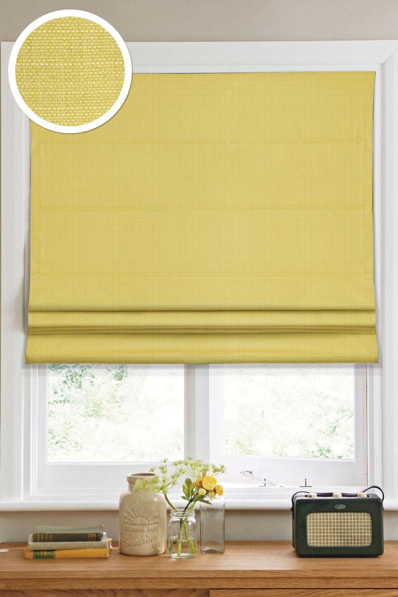 """Римская штора """"Эскар"""", цвет: салатовый, ширина 60 см, высота 160 см 1014060"""