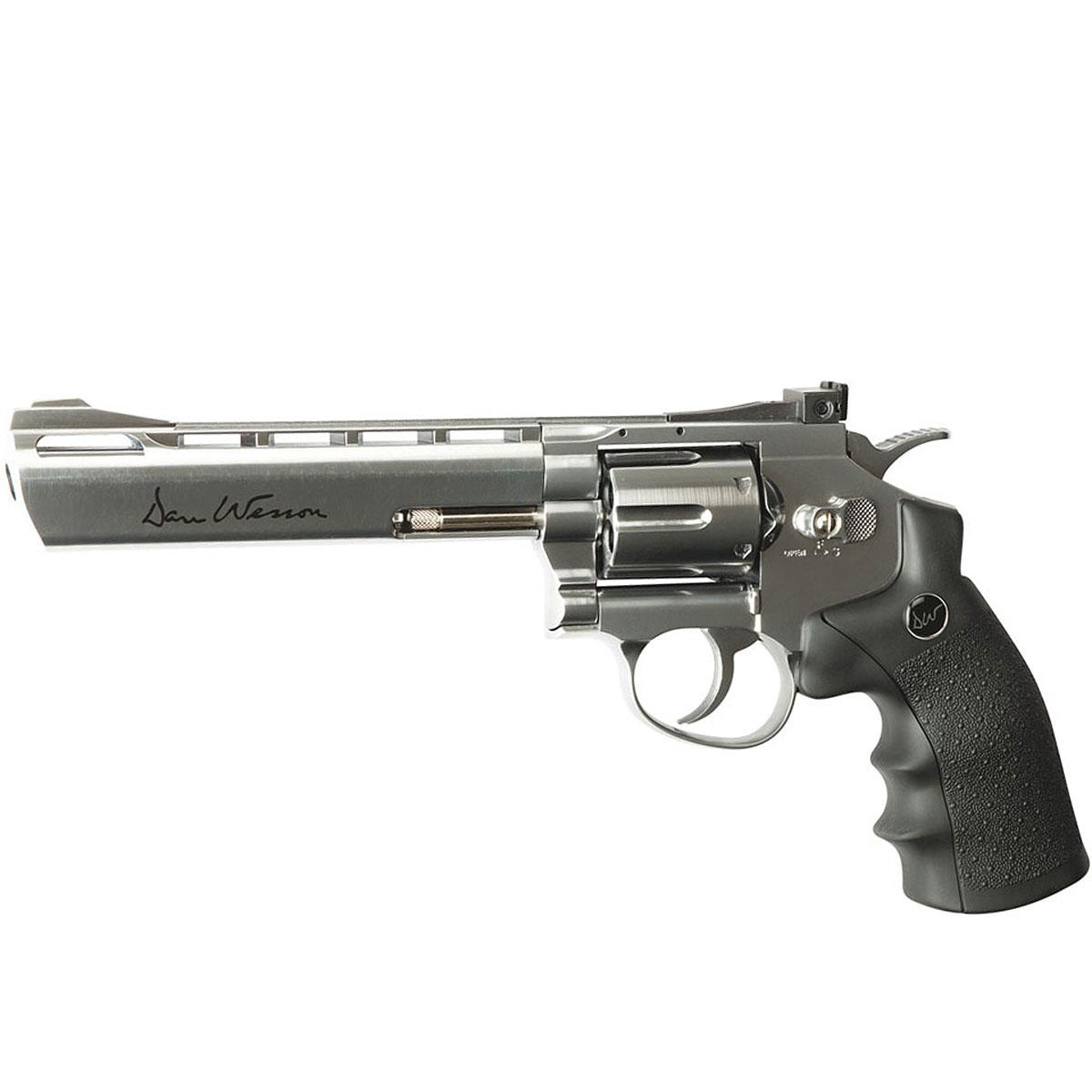ASG Dan Wesson 6inch револьвер пневматический CO2, 4,5 мм, цвет: Silver (16559) цена
