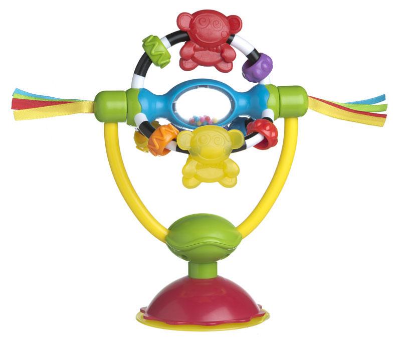 Playgro Развивающая игрушка-погремушка High Chair, на присоске playgro погремушка шар